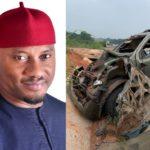 Nigerian actor, Yul Edochie survives ghastly car crash