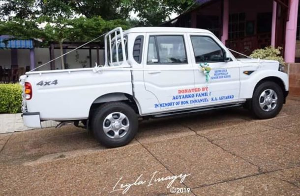 Boakye Agyarko donates 4x4 pickup truck to Krobo Girls SHS