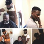 PHOTOS: Ghanaian celebrity barber storms Black Stars camp to give players new haircut