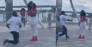 SHOCKING VIDEO: Man arranges fake proposal to disgrace girlfriend in front of friends