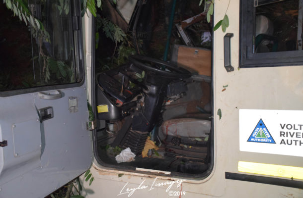 PHOTOS: 7 dead, others injured as VRA staff bus crashes at Odumase Krobo