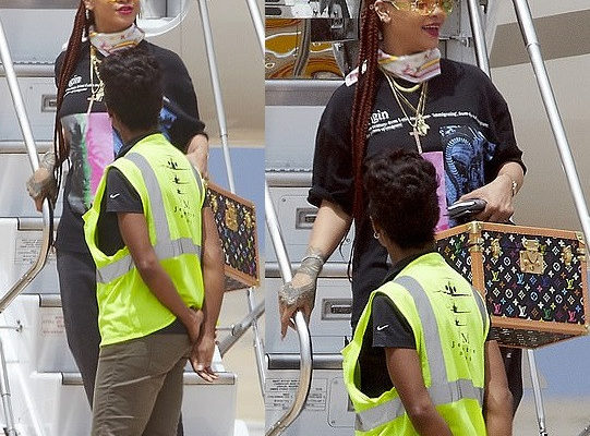 PHOTOS: Rihanna arrives in her hometown in Barbados for vacation