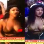 PHOTOS: BBNaija housemate, Tacha suffers nip slip during Saturday night party