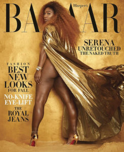 PHOTOS: Serena Williams bares it all in racy gold-themed shoot for magazine