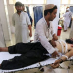 Six people killed and 14 others injured after a suicide bomber attacked a wedding