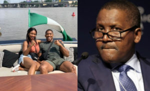 PHOTOS: Dangote hosts Anthony Joshua and sister in his $42m yatch