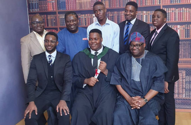 PHOTOS: Dele Momodu's son graduates from Top UK University
