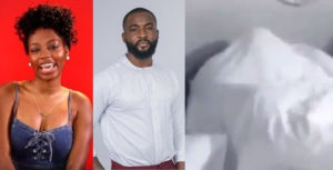VIDEO: #BBnaija housemates, Gedoni and Khafi caught getting steamy under the sheets