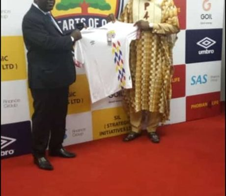 Hearts of Oak replica jersey purchased for a record Ghc20000 at auction