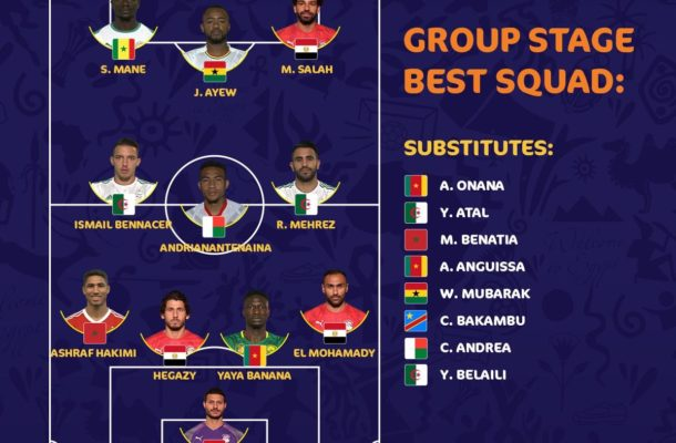 2019 AFCON: Jordan Ayew, Wakaso named in Team of Group Stage