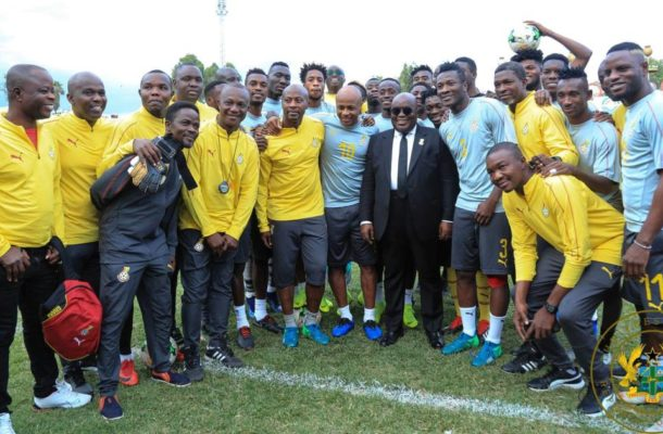 Government receives Black Stars after AFCON failure