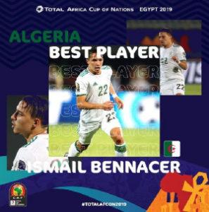 Algeria's Ismael Bennacer named best player of 2019 AFCON Group stage