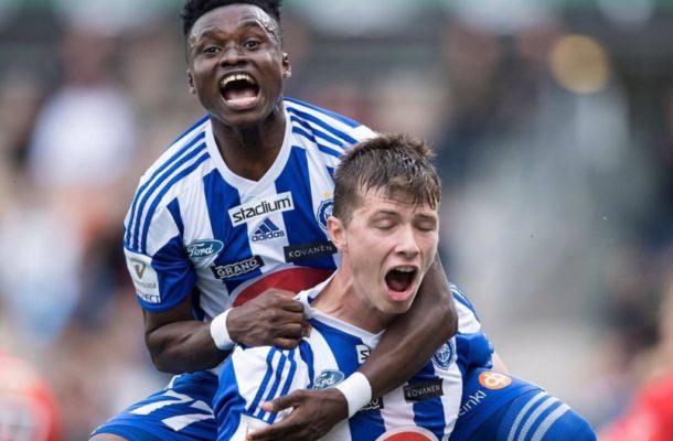 Evans Mensah features as HJK progress in UCL Qualifiers