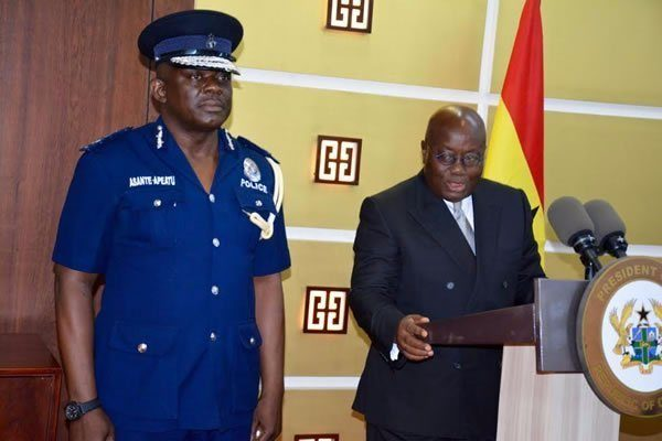 Akufo-Addo orders IGP to proceed on leave; appoints Oppong-Boanuh acting