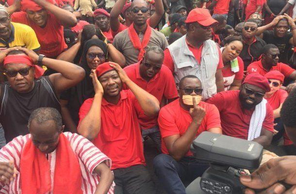 VIDEO: Asiedu Nketia, Ofosu Ampofo 'weep' at 'Kum yen preko' demo