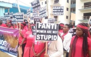 PHOTOS: Group invade Prophet Badu Kobi's church over tribalistic insults against women