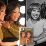 Oprah Winfrey poses for her first magazine cover with her best friend Gayle King