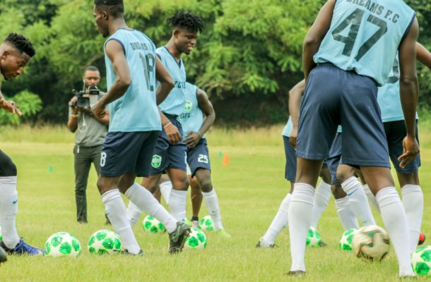 Dream FC move training to Akropong