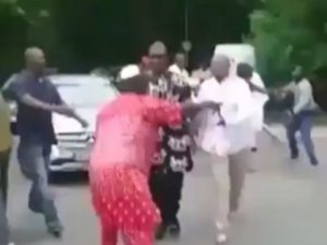 VIDEO: Nigerian Senator seeking Medical help in Germany mobbed