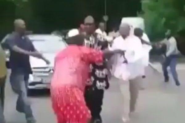 VIDEO: Nigerian Senator seeking Medical help in Germany mobbed