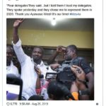 John Dumelo speaks after winning the NDC Parliamentary Primaries