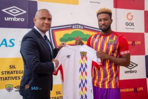PHOTOS: Hearts of Oak unveil new striker Bernard Arthur
