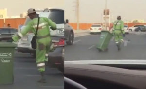 VIDEO: Dancing Nigerian cleaner steals hearts in Abu Dhabi