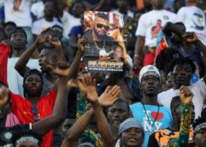 PHOTOS: Thousands of fans troop out pay tribute to late DJ Arafat at his burial 'concert'