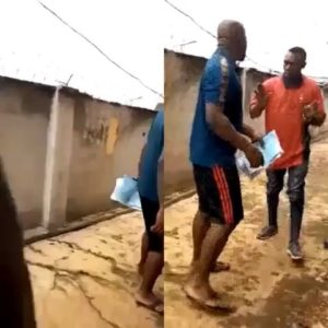 VIDEO: Electricity company worker beaten to the pulp by angry customer
