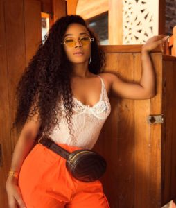 PHOTOS: Toke Makinwa flashes her nipples in see-through camisole