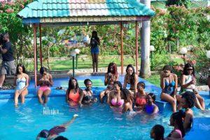 PHOTOS:Miss Malaika 2019 girls cool off in their bikini's at the poolside