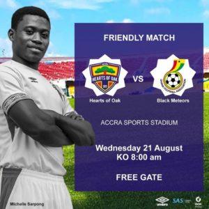 Hearts of Oak to play Ghana U23 team in friendly