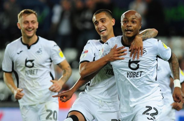 Andre Ayew bags brace to inspire Swansea to victory in Carabao Cup