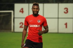 Patrick Twumasi completes first training session with Gaziantep FK