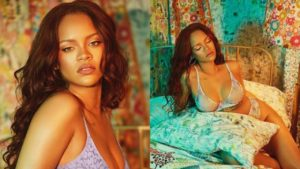 PHOTOS: Rihanna flaunts her ample assets as she poses in just bra and panties