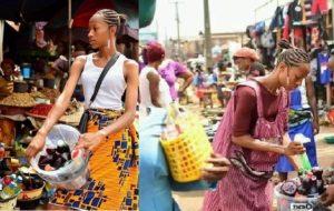 PHOTOS: Pretty Legon girl sells sobolo at makola market