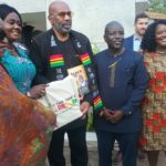 VIDEO: American TV star Steve Harvey in Ghana with his family