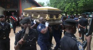 PHOTOS: Tears flow as policewoman shot and killed in Tamale laid to rest