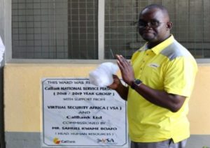 CalBank Service Personnel give Accra Psychiatric Hospital ¢97,000 make-over