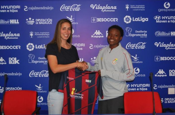 Ghana female star Lily Lawrence signs for Spanish side Extramendura UD Feminine