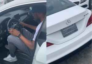 VIDEO: Singer Victor AD shows off his brand new Mercedes Benz whip