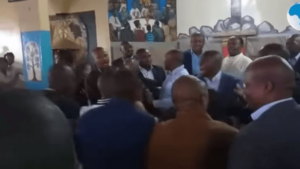 VIDEO: Drama as two politicians fight in church over control of constituency