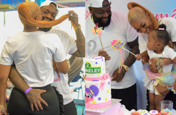 PHOTOS: Rick Ross smooches his girlfriend's behind as they celebrate daughter's 2nd birthday