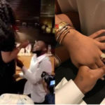 'She said YES' - Davido shows off Chioma's massive engagement ring
