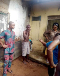 PHOTOS: Man stripped off completely, beaten to pulp for defiling 9-year-old girl