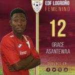 Grace Asantewaa marks Logroño Feminino debut in league draw
