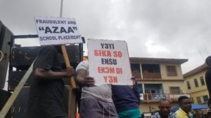 PHOTOS: Group demonstrates against high cost of living