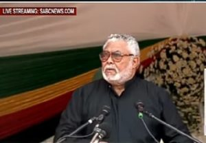 Rawlings delivers tribute on behalf of Prez Akufo-Addo and Ghanaians at Mugabe's Funeral