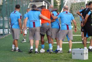 PHOTOS: Caleb Ekuban picks up serious injury in Tranzonspor training