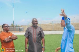 Deputy Minister for Youth and Sports inspects Madina Park